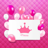 Princess Background with Crown Vector. Illustration EPS10 royalty free illustration