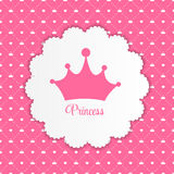 Princess  Background with Crown Vector Royalty Free Stock Image
