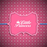 Princess Background with Crown Vector Illustration Royalty Free Stock Photo