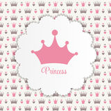 Princess Background with Crown Vector Illustration. EPS10 Stock Images
