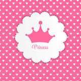 Princess Background with Crown Vector Illustration. EPS10 Royalty Free Stock Images
