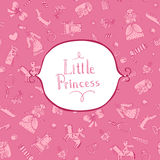 Princess background with frame Royalty Free Stock Photos