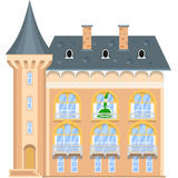 Princess on the balcony of a medieval castle. Flat vector illustration Stock Image