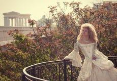 princess balkonowy oparty poręcz Obrazy Stock