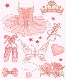 Princess Ballerina Set royalty free illustration