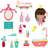 Princess bathroom collection. Royalty Free Stock Photo