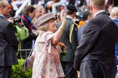 Princess Beatrix of The Netherlands. Princess Beatrix, former Queen of The Netherlands on the first Kingsday, Amstelveen, 2014 Stock Photography