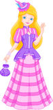 Princess. In a beautiful dress for walking Royalty Free Stock Images