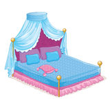 Princess Bed With Canopy Royalty Free Stock Photos