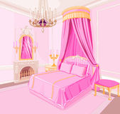Princess bedroom. Interior of magic princess bedroom Stock Image