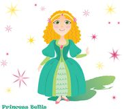 Princess Bellis with stars and shadow Royalty Free Stock Photo