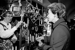 PRINCESS BENEDIKTE AT SWEDISH CHRISTMAS BAZAR Stock Image