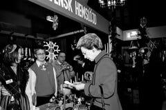 PRINCESS BENEDIKTE AT SWEDISH CHRISTMAS BAZAR Royalty Free Stock Image