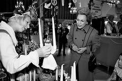 PRINCESS BENEDIKTE AT SWEDISH CHRISTMAS BAZAR Royalty Free Stock Photo