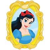 Princess Biała magia Śnieżny lustro Obraz Stock