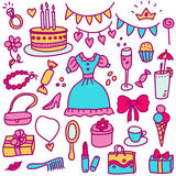 Princess birthday in color Royalty Free Stock Images