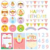 Princess Birthday Party stock illustration
