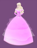 Princess the blonde in a pink dress Royalty Free Stock Photo