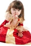 Princess blowing stars Royalty Free Stock Photo