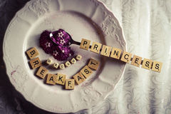 Princess breakfast Royalty Free Stock Images