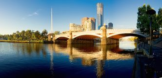 Princess bridge over the yarra river in melbourne Stock Photography