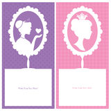 Princess card sets Stock Photography