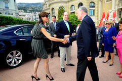 Princess Caroline of Hanover and Prince Albert II Stock Photo
