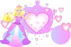 These are princess with carriage Royalty Free Stock Photo
