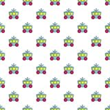 Princess carriage pattern seamless. Princess carriage pattern in cartoon style. Seamless pattern vector illustration Royalty Free Stock Images