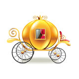 Princess carriage  on white vector Royalty Free Stock Photography
