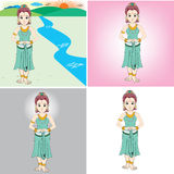 Princess cartoon Stock Image