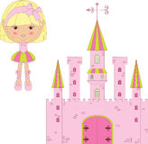 Princess and castle Royalty Free Stock Photography