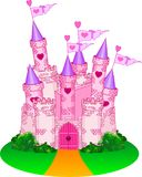 Princess Castle. Vector Illustration of a Fairy Tale Princess Castle Royalty Free Stock Images