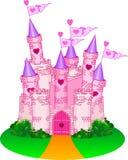 Princess Castle. Vector Illustration of a Fairy Tale Princess Castle