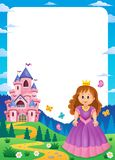 Princess and castle composition frame 1. Eps10 vector illustration vector illustration