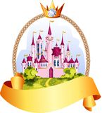 Princess castle frame. Stock Photo
