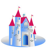 Princess castle illustration Stock Photo