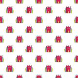 Princess castle pattern seamless Royalty Free Stock Images