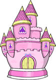 Princess Castle Vector Illustration Royalty Free Stock Photo