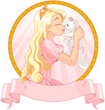 Princess and Cat Stock Images