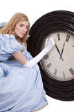 Princess changing time Royalty Free Stock Image