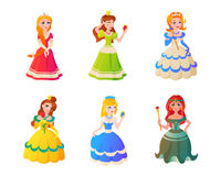Princess character vectorillustration. Royalty Free Stock Photos