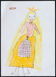 Princess. Childs Drawing. stock image