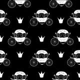 Princess Cinderella Fairytale Carriage. Seamless Pattern Backgro. Und. Vector Illustration. EPS10 Stock Photo