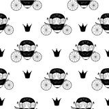 Princess Cinderella Fairytale Carriage. Seamless Pattern Backgro. Und. Vector Illustration. EPS10 Stock Photography