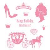 Princess Cinderella Set Collections. Royalty Free Stock Image