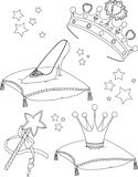 Princess Collectibles coloring page Royalty Free Stock Photo