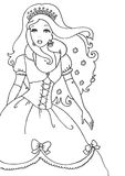 Princess Coloring Page. A princess illustration, fun to color for little girls Royalty Free Stock Photo