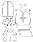 Princess coloring page Stock Image