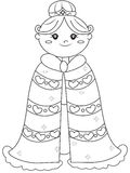 Princess coloring page. Useful as coloring book for kids Stock Photos